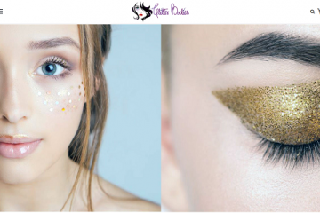 eye glitter glue